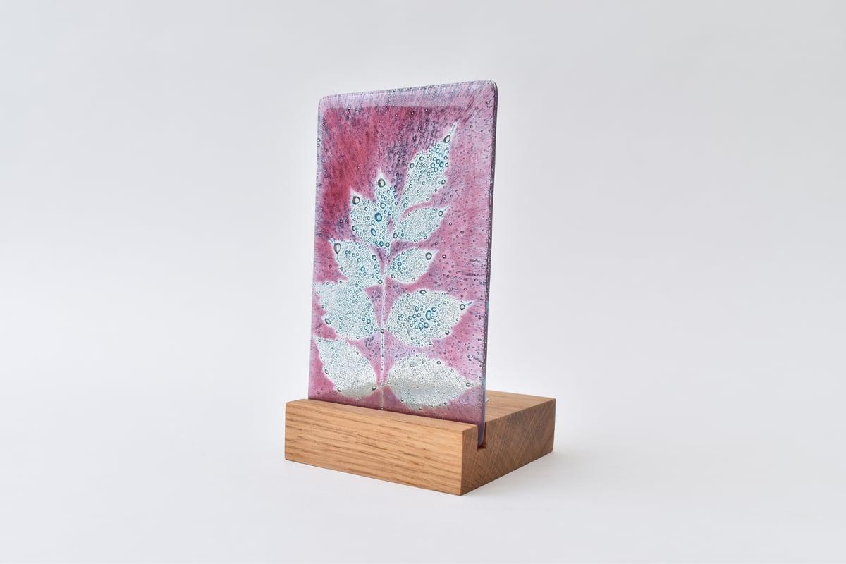 Image of Pink Golden Rain Tree Leaf Single T-light