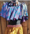 Gypsy top turquoise and pink