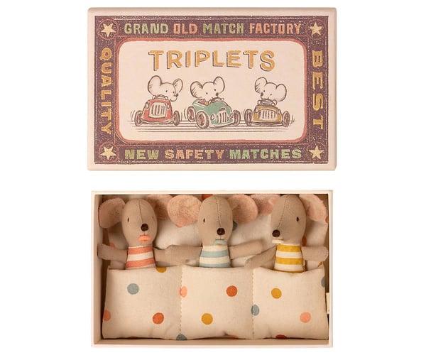 Image of Ratones bebés trillizos en cajita