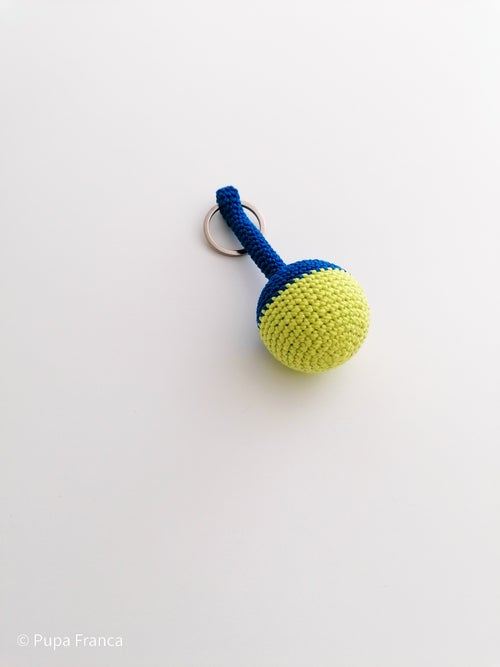 Image of Summer Keychain in Blue and Yellow