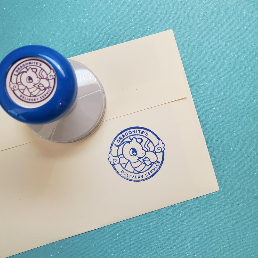 Blue Ink Stamper