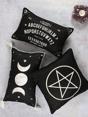 Image of BLACK & WHITE PENTAGRAM Cushion