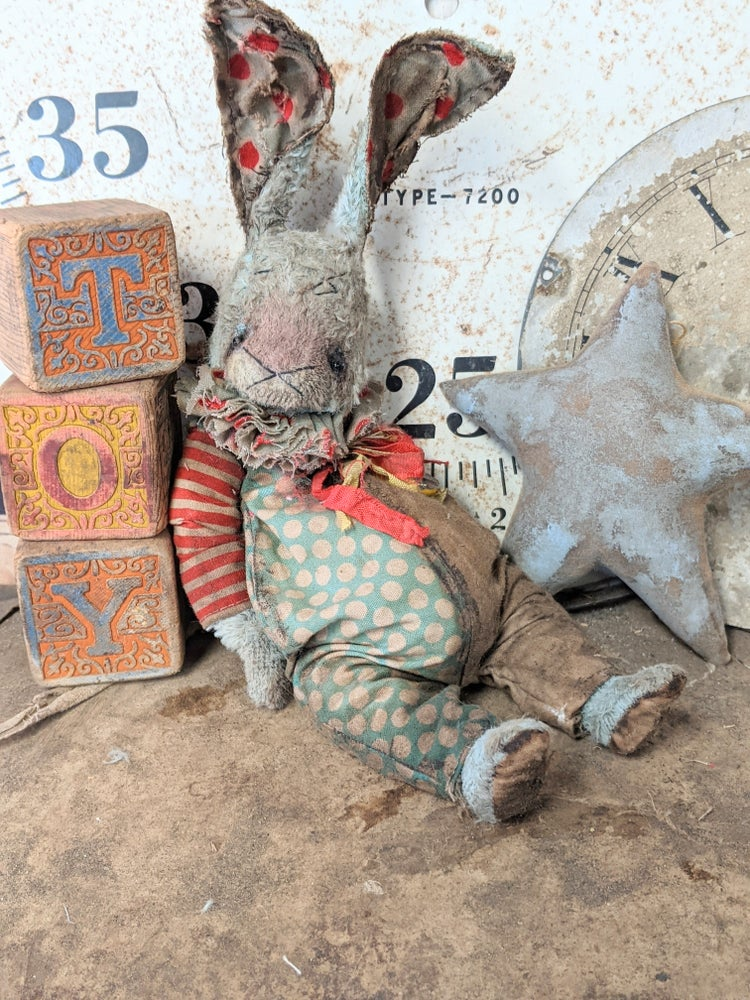 """Image of 11"""" - Schoenhut Toy Circus Old Carnival Rabbit by Whendi's Bears"""