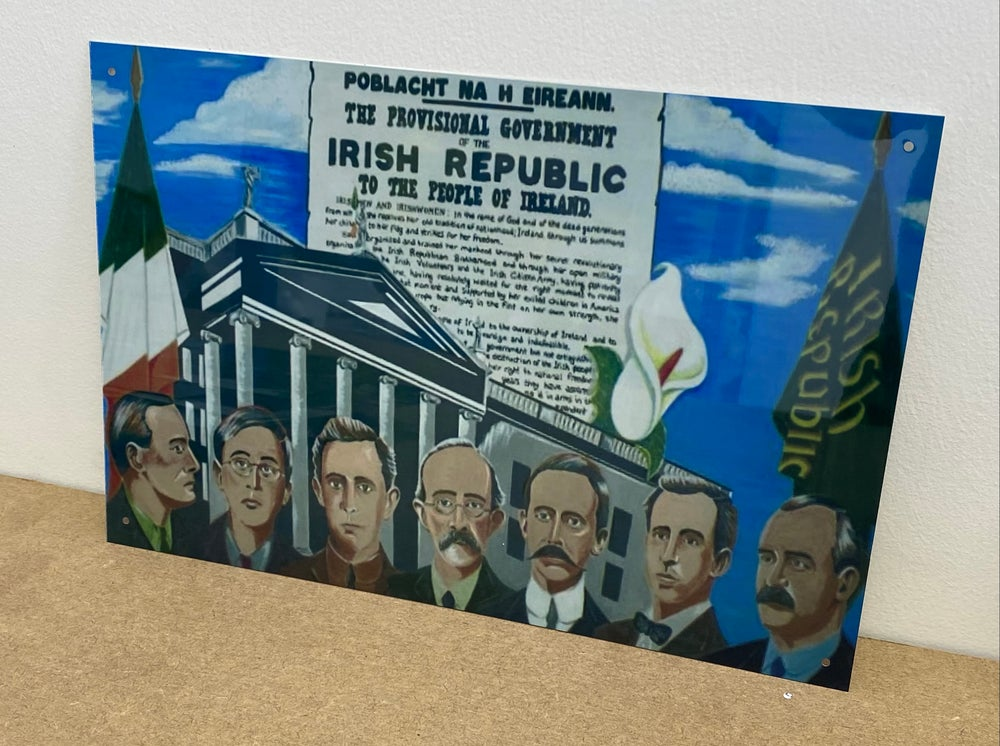 Easter Rising Leaders metal A4 sign
