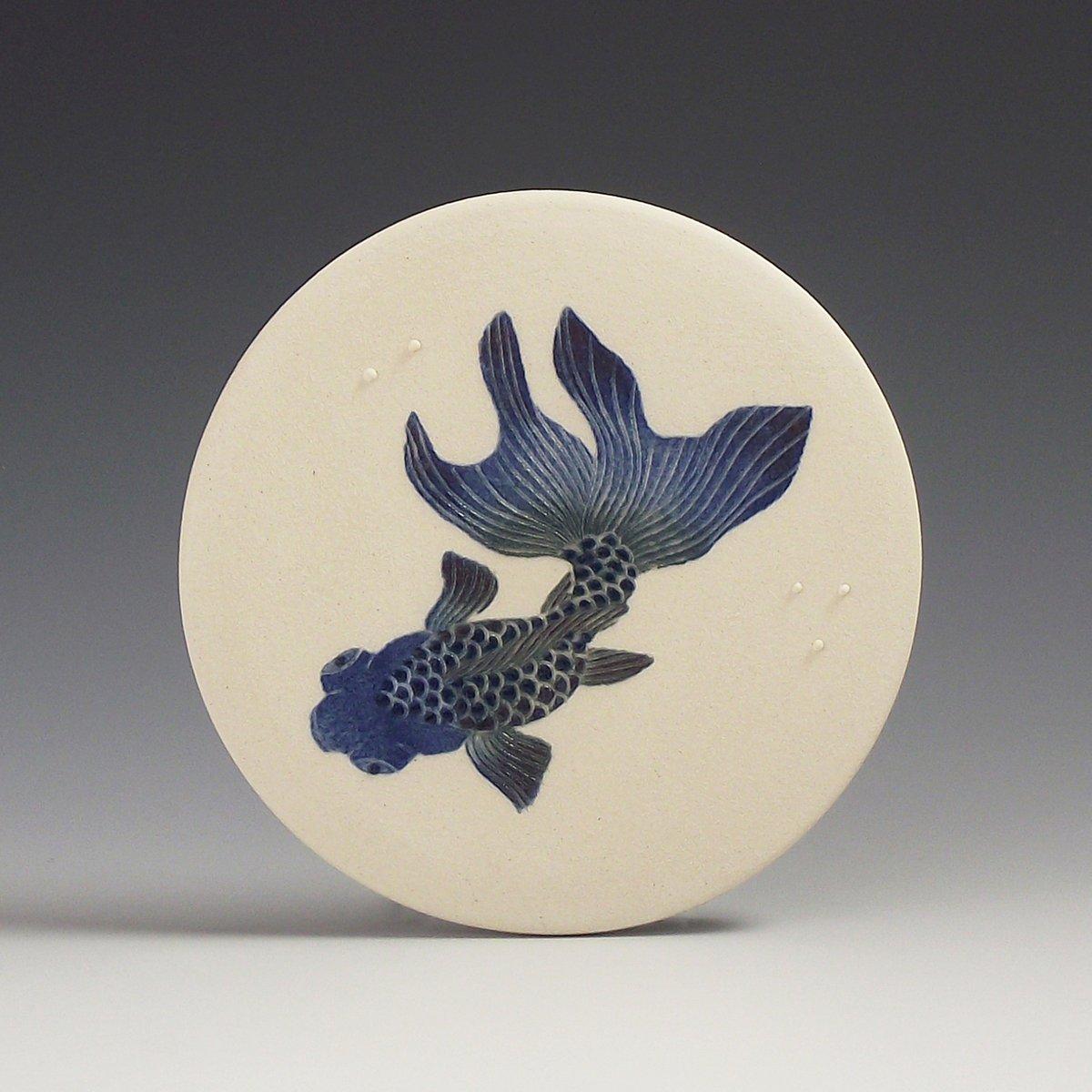 Moor fish ceramic wall hanging