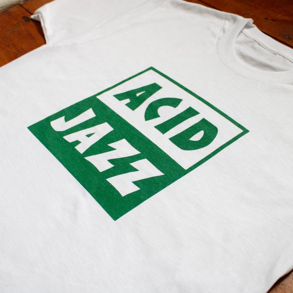 Image of Classic Acid Jazz Logo T-shirt - Green Logo