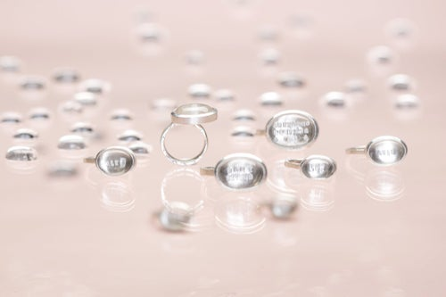 """Image of """"Spring breath"""" silver ring with rock crystal · ANIMO VERNALI ·"""