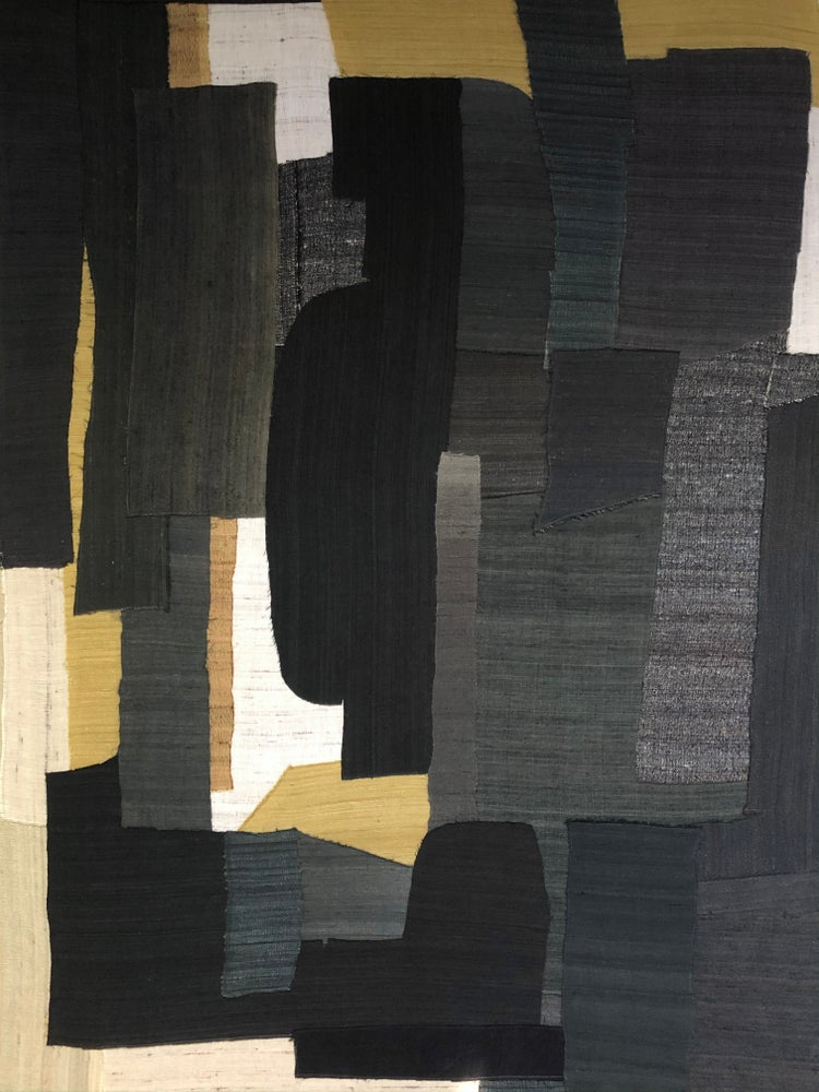 Image of stitched abstract composition (yellow)