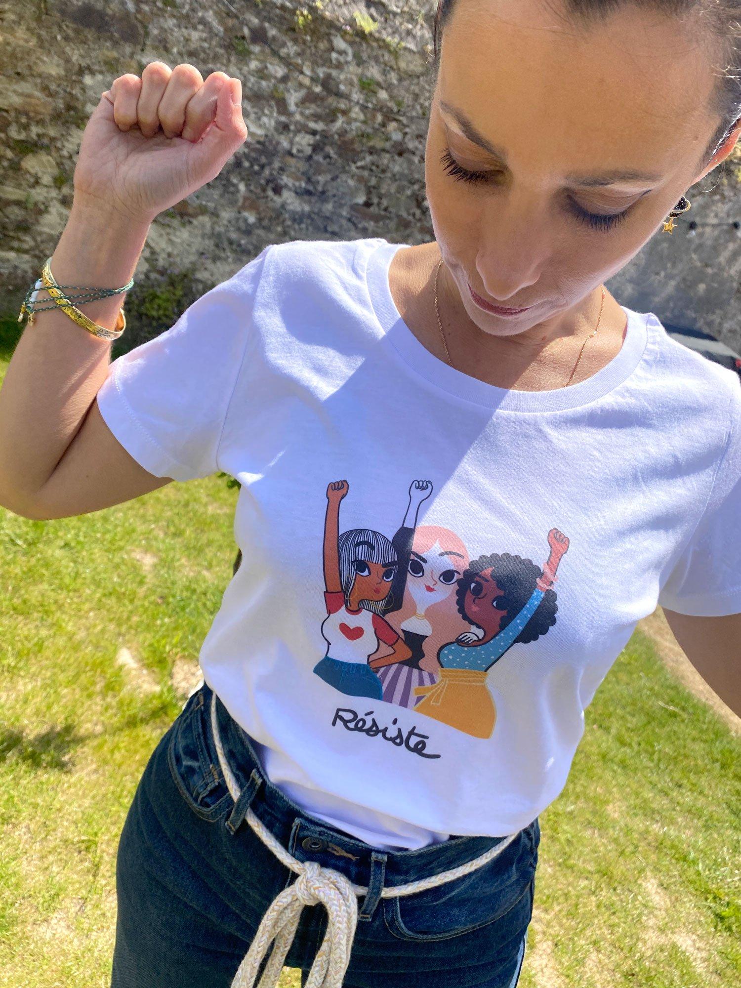 Image of T-Shirt The Simones X Adolie - RESISTE