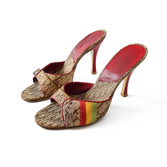 Image of Dior Rasta 2004 Monogram High Heel Sandals