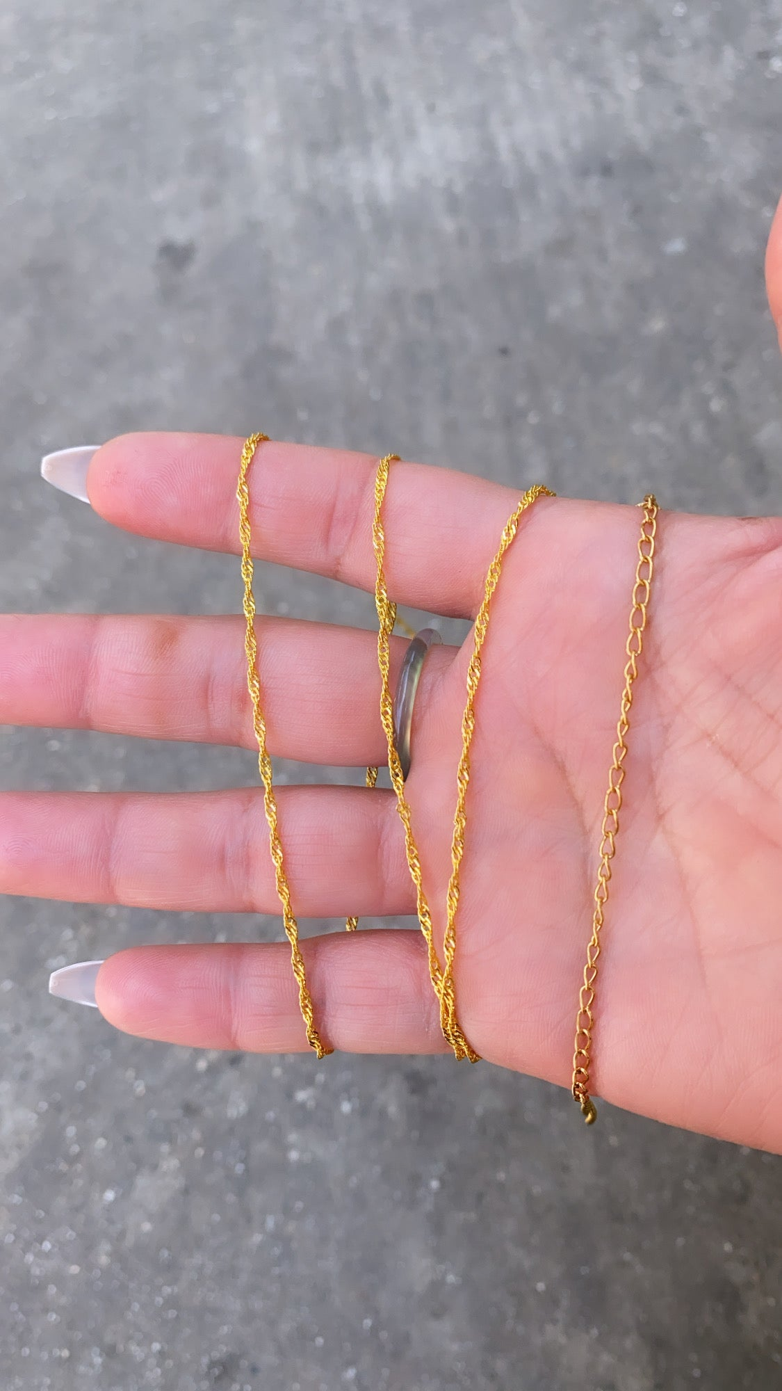 Image of TWISTED GOLD BELLY CHAIN   WAIST CHAIN