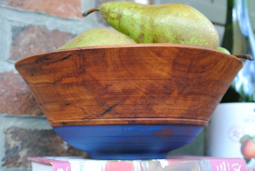 Image of Painted pearwood fruit bowl
