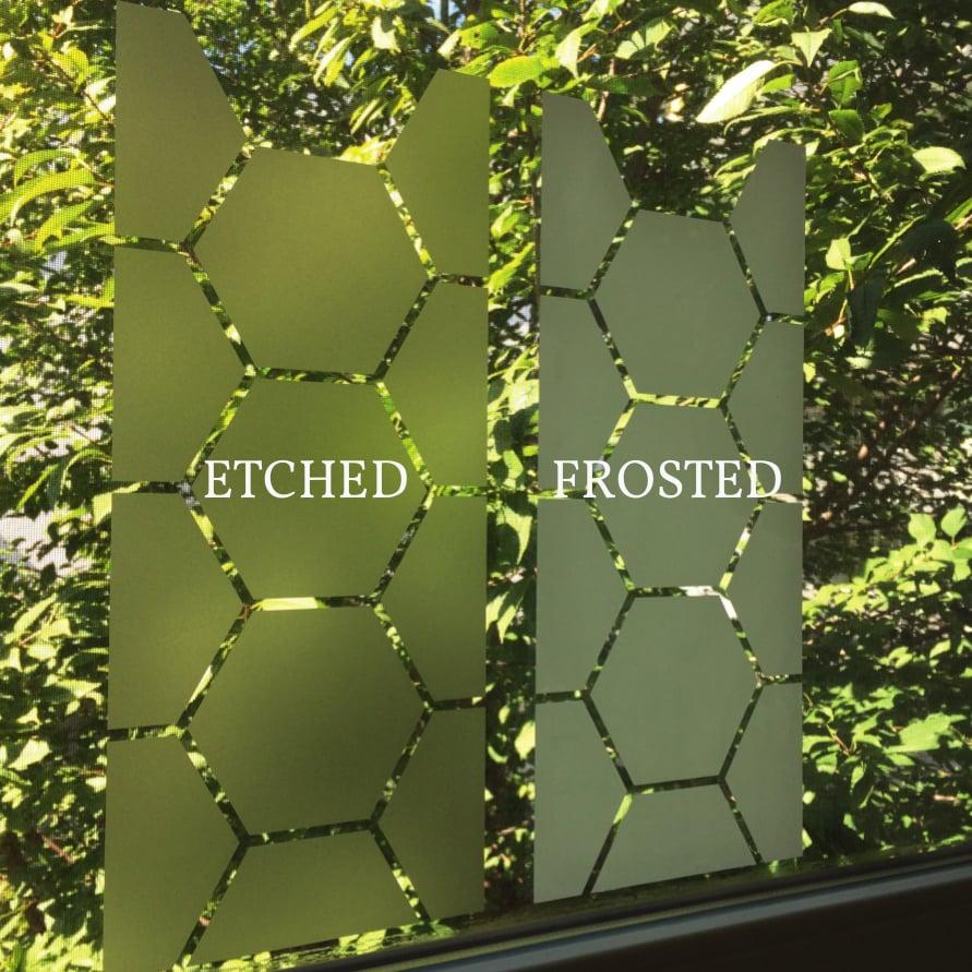 Image of Geometrische dekorative Sichtschutz Folie