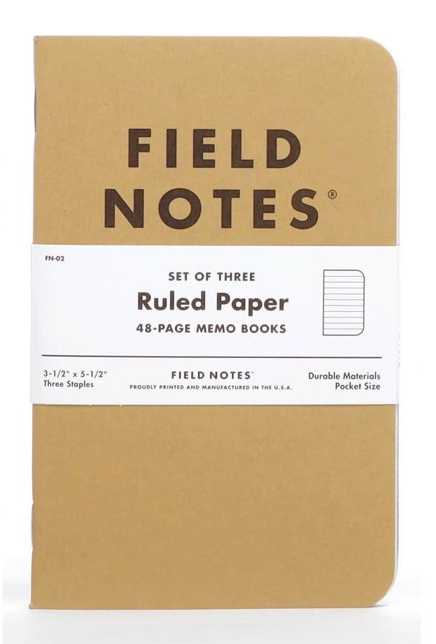 Image of FIELD NOTES Original Kraft Ruled Notebook 3-Pack