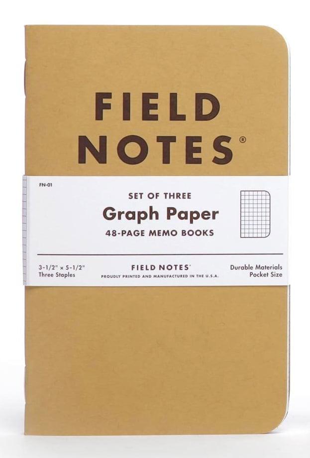 Image of FIELD NOTES Original Kraft Graph Notebook 3-Pack