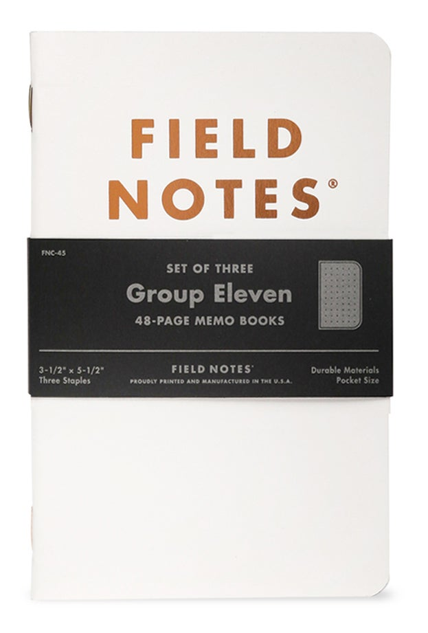 Image of FIELD NOTES Limited Edition Group Eleven Dotted Notebook 3-Pack