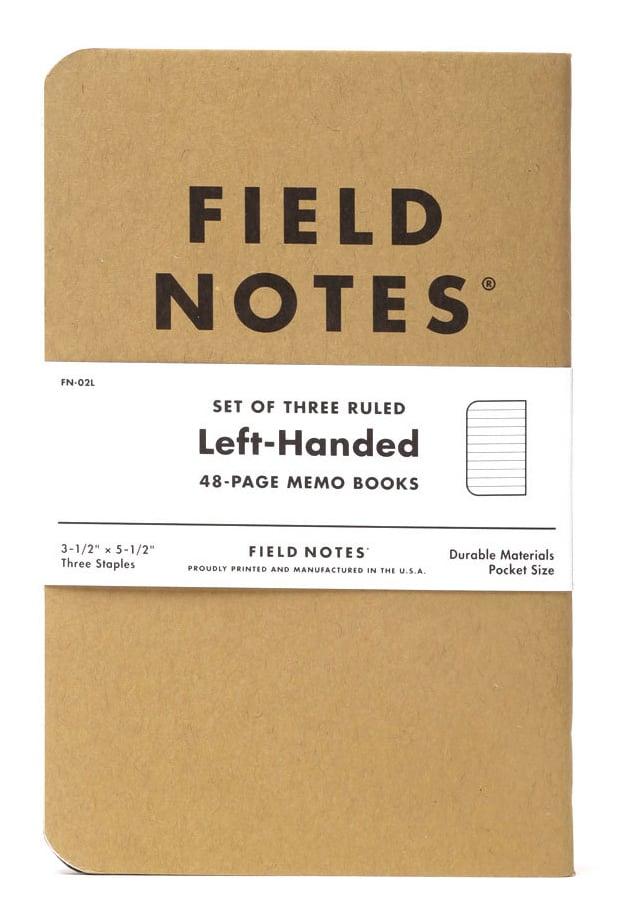 Image of FIELD NOTES Original Kraft LEFT-HANDED Ruled Notebook 3-Pack