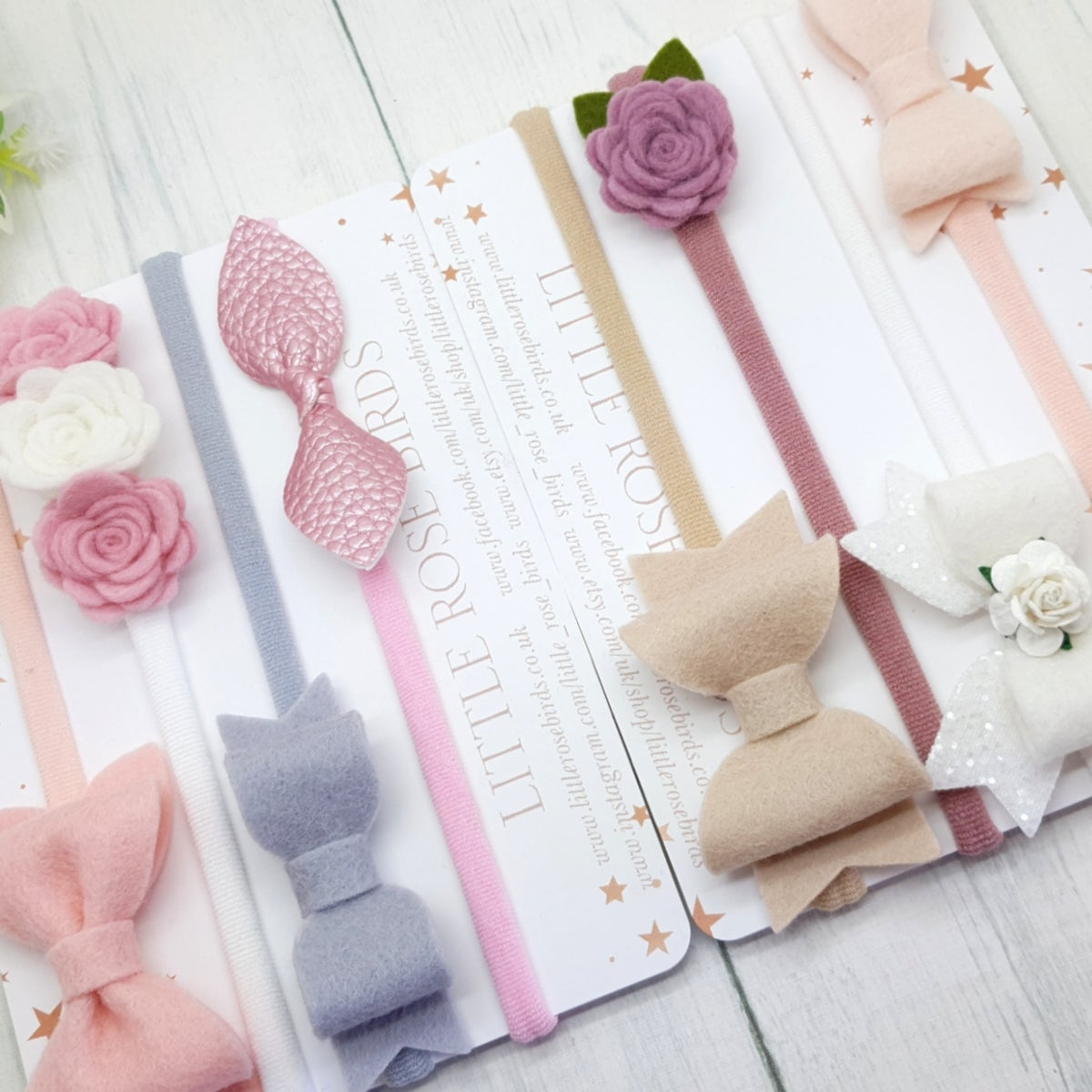 Image of Set of 8 My First Baby Bows