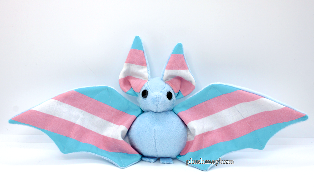 Image of Trans bat - Multiple colour options  - Made to Order