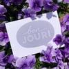 Bonjour greeting card
