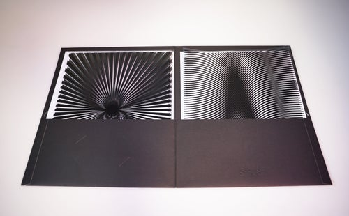 Image of Printed Moiré Transparencies - Set of 5 Patterns  - 10 Waterproof Sheets - includes Folder!
