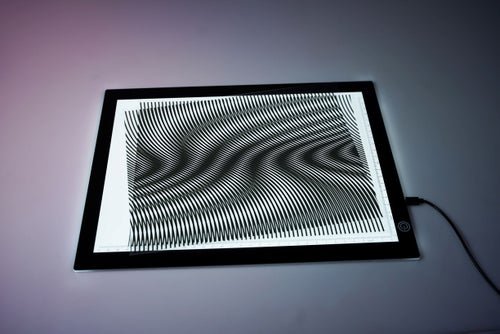 Image of Super Opaque Moiré Transparencies - NEW AND IMPROVED!! - Set of 5 Patterns - includes Folder!