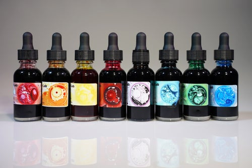 Image of Complete 8 Color Set - Concentrated Oil Dye for Liquid Light Shows - SAVE$$$