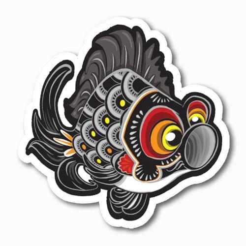 Image of Koinobori [Black] Sticker