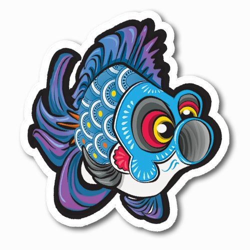 Image of Koinobori [Blue] Sticker