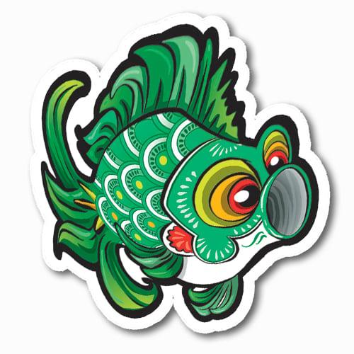 Image of Koinobori [Green] Sticker