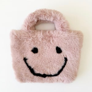 Image of Fuzzy Smiley Purse