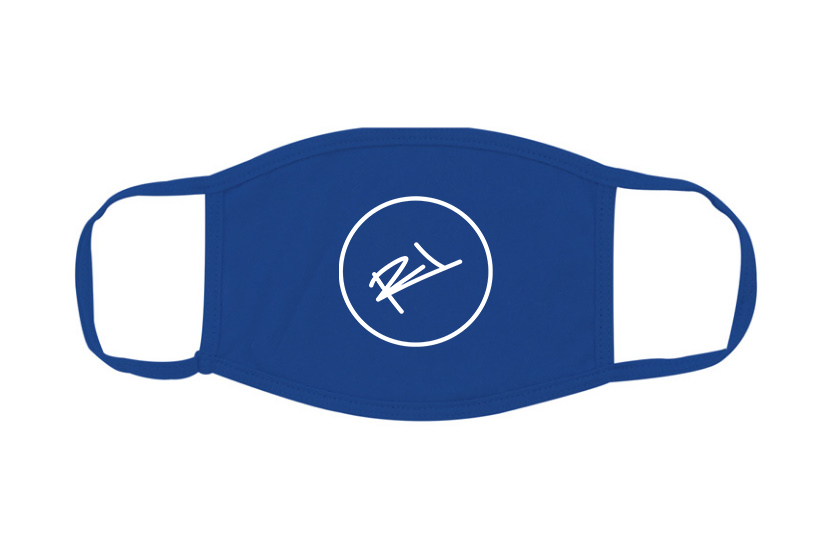 Image of ReL BRAND FACE MASK IN BLUE