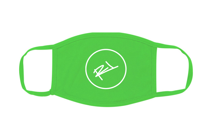 Image of ReL BRAND FACE MASK IN NEON GREEN