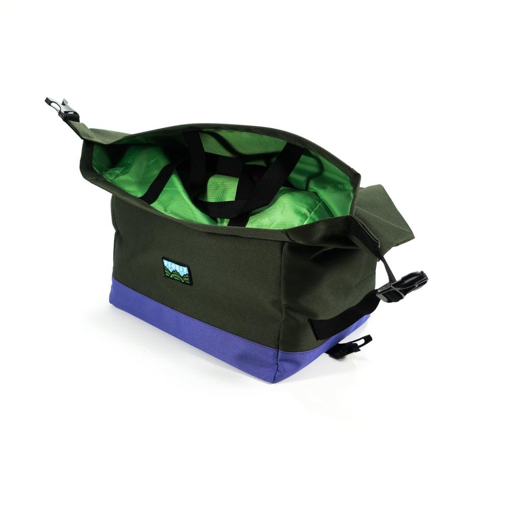 Image of Pasa Basket Tote Bag - Olive/Violet