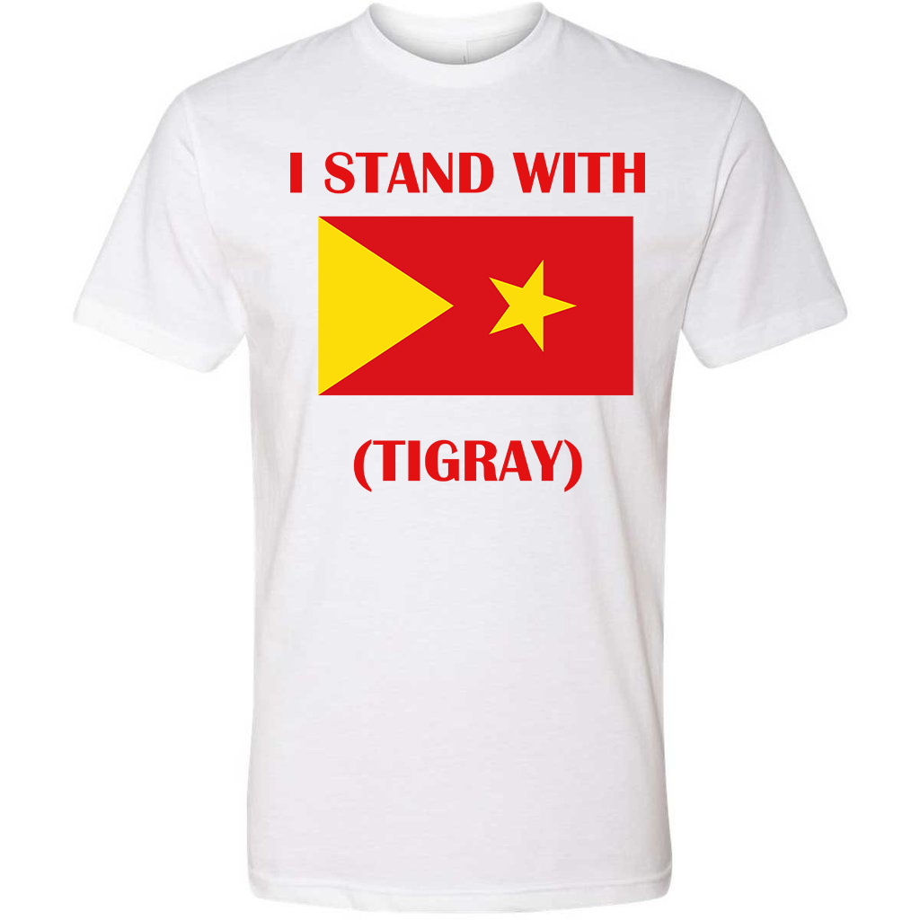 Image of I STAND WITH TIGRAY T-SHIRT IN WHITE