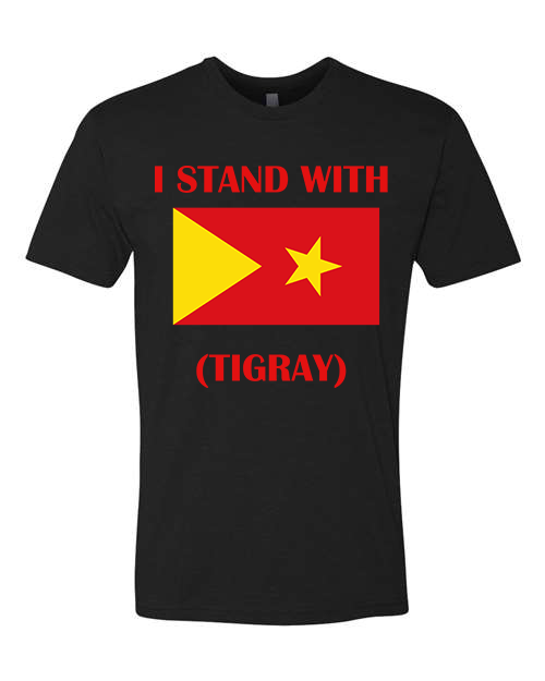 Image of I STAND WITH TIGRAY T-SHIRT IN BLACK