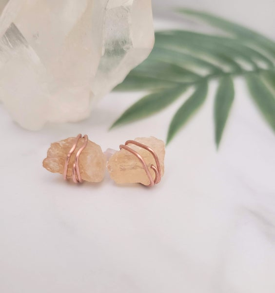 Image of Rock With Me Studs- Citrine