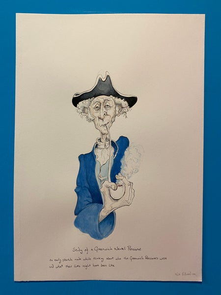 Image of Study of a Greenwich Pensioner.