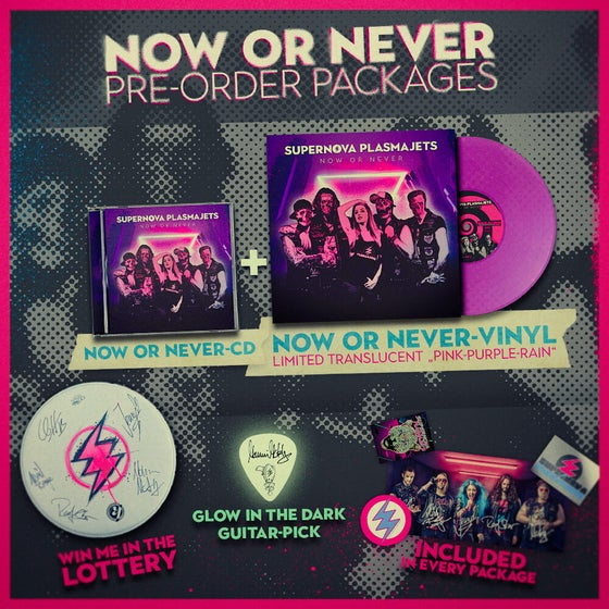 """Image of """"Now Or Never"""" CD & Vinyl Pre-Order Package"""