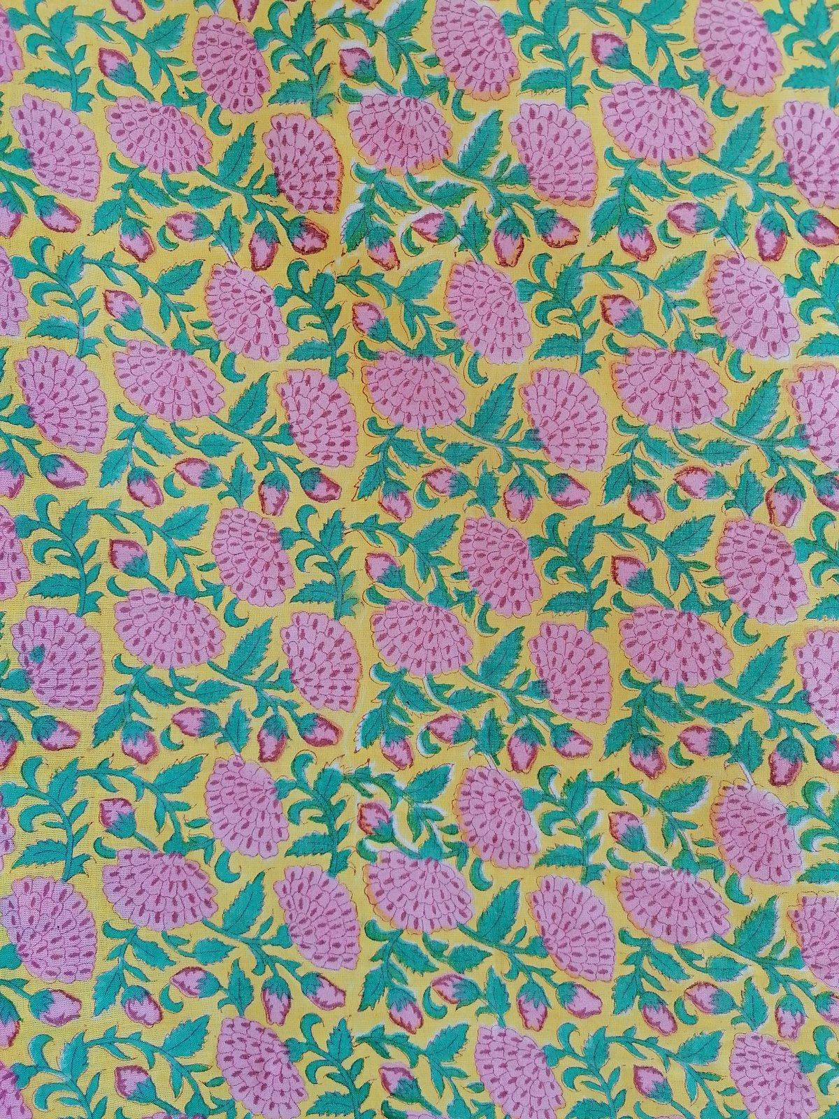 Image of Namasté fabric citron