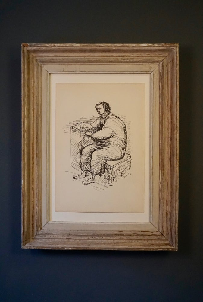Image of MOORE COLLECTION / seated person / 27/008