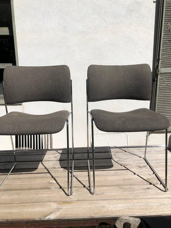 Image of Paire de chaises vintage modèle 40/4  Howe (Danois)