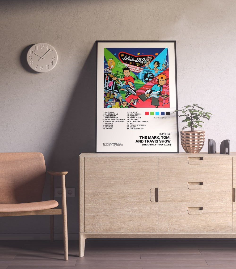 Blink-182 - The Mark, Tom, and Travis Show Album Cover Poster