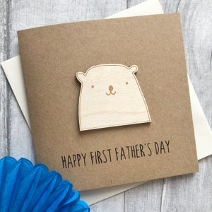 Image of Happy Father's / 1st Father's Day Bear Card