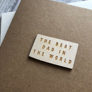 Image of Best Dad / Daddy in the World Card