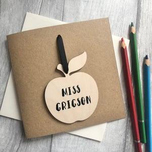Image of Thank You Teacher Apple Decoration Card