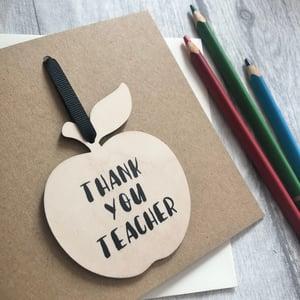 Image of Teacher Apple Decoration Card