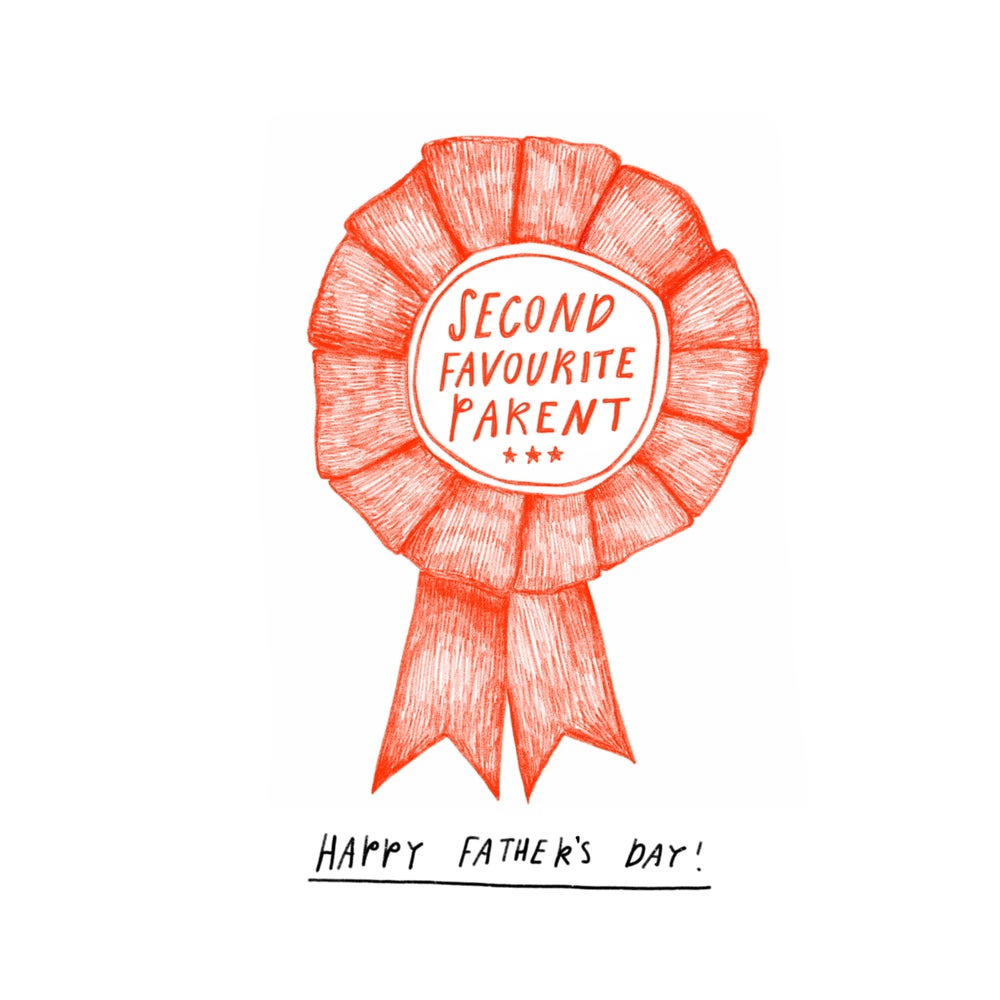 Image of Second Favourite Parent Father's Day Card