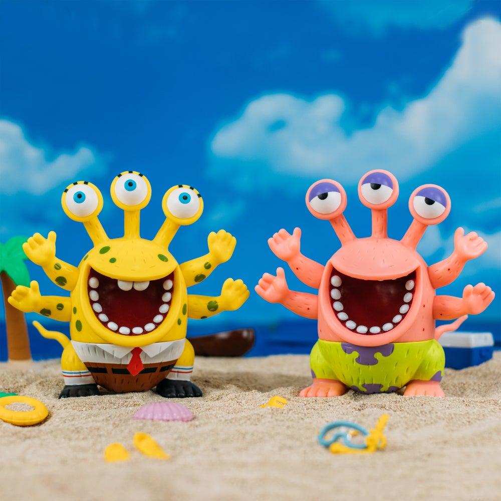 Image of SPONGEBOB & PATRICK HOKUSE CROSSOVER PROJECT BY ROBIN TANG