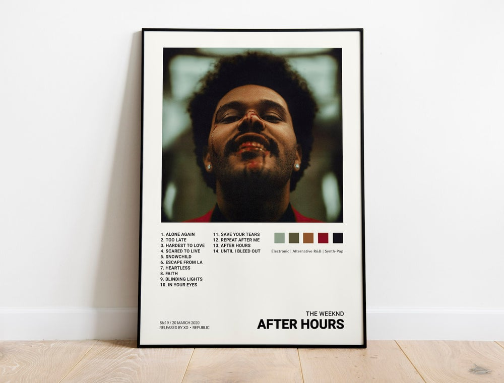 The Weeknd - After Hours Album Cover Poster
